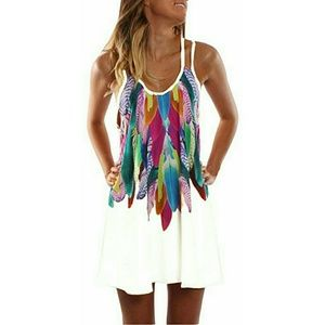 **Colorful Beach Cover up Dress**